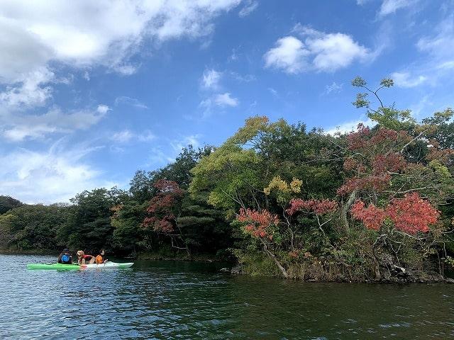 一碧湖半日カヤック体験